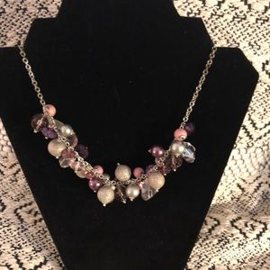Jewelry - cute necklace with pink and purple beads
